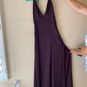 dark purple formal dress- ankle length- NEVER WORN